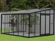 Serre de jardin en verre - En verre trempé  - Dimensions (L x P) : 3.80 x 3.16 m