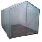 Serre de jardin tunnel 6 m² - Dimensions : 200 x 300 x 150/200 cm