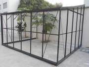 Serre en verre - En verre trempé - Surface : 7.22 à 10.26 m²