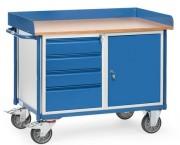 Servante atelier à 4 tiroirs - Charge (kg) : 400 - Norme européenne EN 1757-3