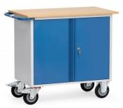 Servante avec placard à 2 portes - Capacité : 400 kg - Plan de travail en mélaminé