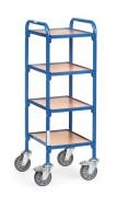 Servante d'atelier 4 plateaux - Charge (kg) : 250 - Norme européenne EN 1757-3