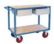 Servante d'atelier à 2 plateaux - Charge utile (kg) : 500
