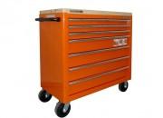 Servante d'atelier à 7 tiroirs - Servante 7 tiroirs plateau bois  -  Système Lock & Go