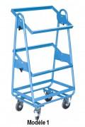 Servante d'atelier à bacs - Charge utile (Kg) : 200 - Modèle incliné