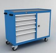 Servante d'atelier à tiroirs et coffre - Servante 5 tiroirs + 1 coffre