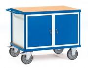 Servante d'atelier avec placard et tiroirs - Charge (kg) : 600 - Norme Européenne 1757-3