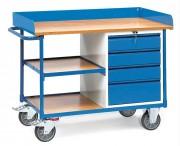 Servante d'atelier métallique à 4 tiroirs - Charge (kg) : 400 - Norme EN 1757-3