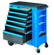 Servante d'atelier mobile - 6 Tiroirs - Capacité de charge : 200 kg