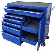 Servante d'atelier multi tiroirs - Servante 8 tiroirs + porte - dessus bordé