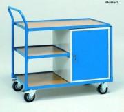 Servante d'atelier pour usage en continu Charge 250 à 400 kg - Charge maximale (kg) : 400