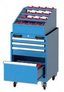 Servante d'atelier sur roulettes - Peut résister à l'usage industriel et intensif.