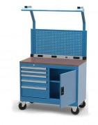 Servante établi 5 tiroirs à panneau accrochage - Charge par tiroir : 50 kg