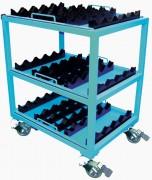 Servante outillage à 3 plateaux - Stockage et transport d'outils dans un contexte industriel