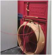 Service étancheité de salle informatique - Ventilateur posé au niveau de la porte d'accès