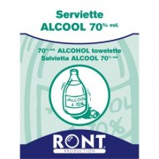 Serviette alcool 70° désinfectante sport - Lot de 10 serviettes
