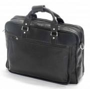 Serviette cuir vachette - Dispose plusieurs compartiments et poches