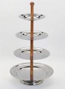 Serviteur en bois - Hauteur : 64 cm - 4 étages
