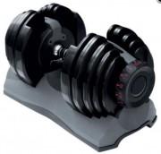 Set 2 haltères automatique 24 kg - Poids variables entre 2.5 et 24 kg en 15 paliers de 1 à 2 kg