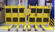 Set de barrières extensibles - Acier certifiées-TÜV de 4 m et 16 m de longueur
