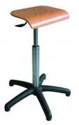Siège assis debout en hêtre - Réglable en hauteur de 540 à 790 mm