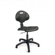 Siège atelier polyuréthane contact permanent - Hauteur d'assise réglable : 420 à 540 mm