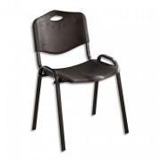 SIEGE Chaise collectivité 4 pieds ISO PLAST polypropylène noir - NOWY STYL. FR