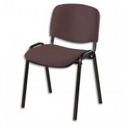SIEGE Chaise de conférence 4 pieds tissu marron - NOWY STYL. FR