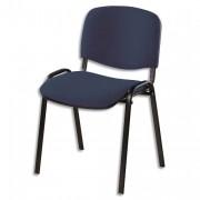 SIEGE Chaise de conférence 4 pieds tissu noir - NOWY STYL. FR