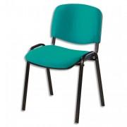 SIEGE Chaise de conférence 4 pieds tissu vert C42 - NOWY STYL. FR