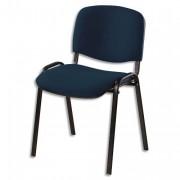 SIEGE Chaise de conférence revetement tissu non-feu ISO Black Jet noir - NOWY STYL. FR