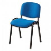 SIEGE Chaise de conférence revetement tissu non-feu ISO jet bleu - NOWY STYL. FR