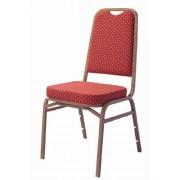 Siège empilable assise et dossier rembourés - Barres de renfort latérales