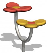 Siège en acier pour aire de jeux - Longueur (mm) : 1000 - Pour enfants de 3 à 8 ans