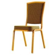 Siège en aluminium pour conférence - Chaise rembourré en tissu