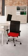 Siège ergonomique bureau - Haut dossier résille - Mécanisme synchrone PLUS
