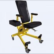 Siège ergonomique pour soudure aéronautique - Dim : 431,8 mm x 508 mm   -  5 roulettes avec haute résistance