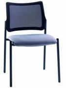 Sièges visiteur pour salle d'attente - Assise garnie tissu ou tissu enduit, dossier résille
