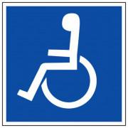 Signalétiques handicap - Dimensions : 200 mm x 200 mm / 120 mm x 120 mm