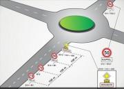 Panneau de signalisation carrefour giratoire - Signalisation de carrefours à sens giratoire
