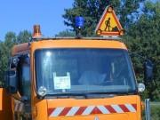 Signalisation feu à éclat bleu blindé - 1 feu à éclat bleu blindé.