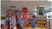 Panneau de signalisation lumineux dynamique - Affichage fixe ou clignotant