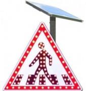 Signalisation routière lumineuse à LED - 70 cm de coté pour les rappels de danger