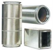 Silencieux pour gaine en tôle d'acier - En tôle d'acier galvanisé
