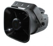 Sirène haut parleur 4 tonalités pour véhicule prioritaire - Haut-parleur avec aimant en néodyme