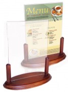 Socle en bois pour porte menu - Dimensions (cm) : 20 x 9 x 22,5