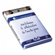 Socle FAF N°3, format 18,5X11,5cm en tôle aluminium avec recharge papier uni - Exacompta