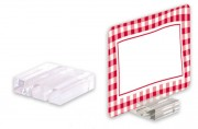 Socle porte étiquettes - Dimensions : 3 x 2,7 x 0,8 cm