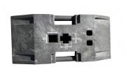 Socle pour balise de chantier - Dimensions : L 800 x l 400 x H 100 mm