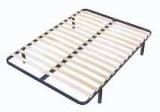 Sommier métallique à lattes pliables - Dimensions : 140 x 190 cm et 160 x 200 cm